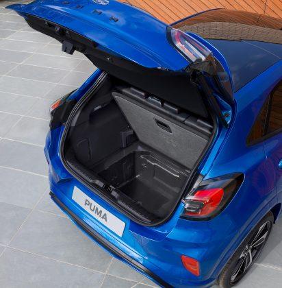 Nový Ford Puma batožinový priestor megabox autotest.sk