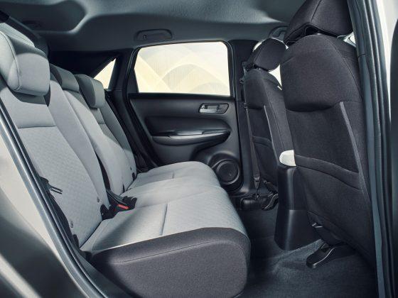 Nová Honda Jazz-vnútorný priostor na zadných sedadlách