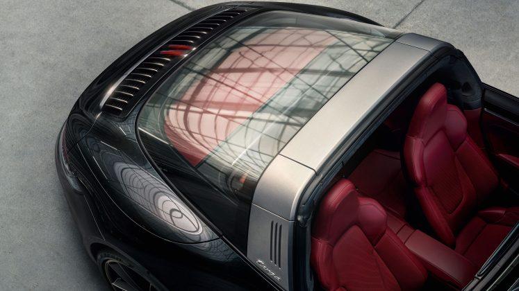Porsche 911 Targa- typický ochranný obluk strechy