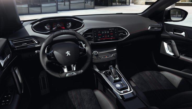 Modernizovaný Peugeot 308-interiér