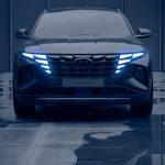 Nový Hyundai Tucson-predná maska po tme
