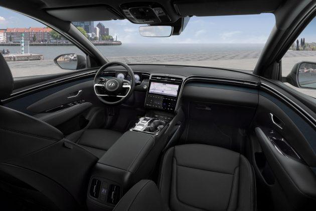 Hyundai Tucson Plug-in Hybrid -prístrojový panel