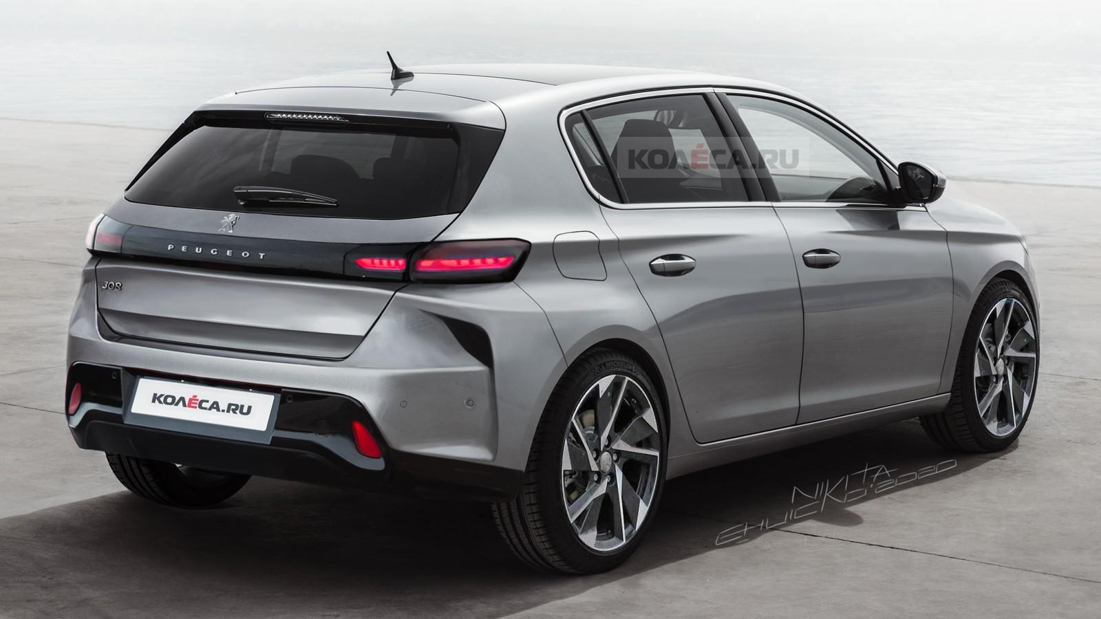 Nový Peugeot 308 (2021) foto odzadu