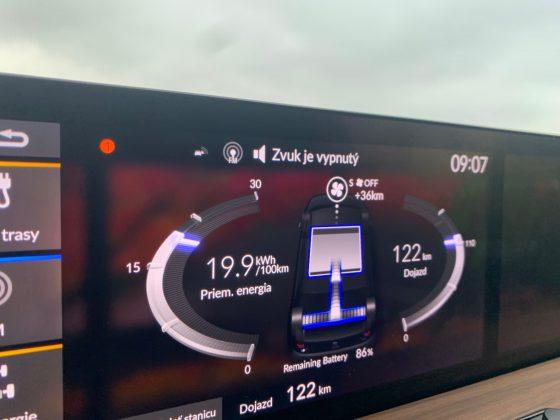 Honda e -údaj spotreby na diaľnici